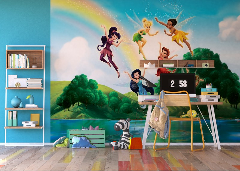 Víly a duha, Disney, AG Design, fototapeta do dětského pokoje, lepidlo součástí balení, 360x270