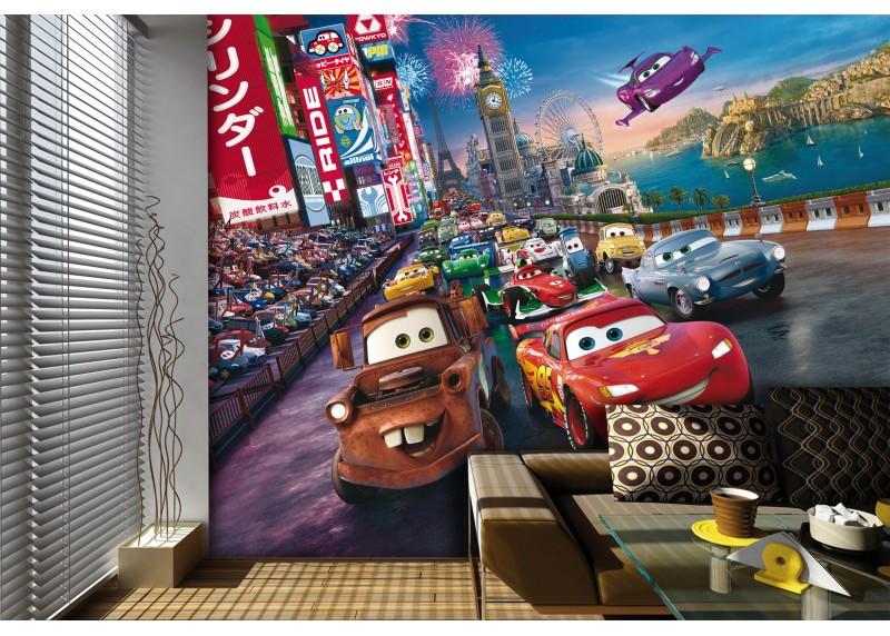 Celosvětové závody, Auta, Disney, AG Design, fototapeta do dětského pokoje, lepidlo součástí balení, 360x270