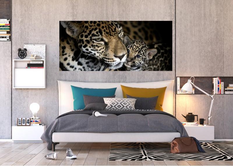 Leopardi, AG Design, fototapeta ekologická vliesová do obývacího pokoje, ložnice, jídelny, kuchyně, lepidlo součástí balení, 202x90