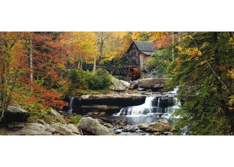 Starý vodní mlýn, vliesová fototapeta do obývacího pokoje, ložnice, jídelny, kuchyně či chaty, AG Design, 202 x 90 cm, FTN H 2712