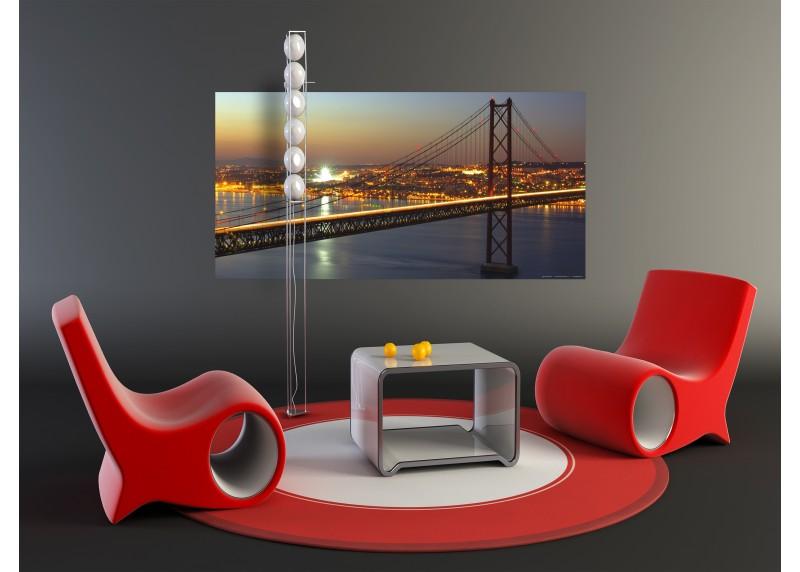 Večerní most, vliesová fototapeta do obývacího pokoje, ložnice, jídelny, kuchyně či chaty, AG Design, 202 x 90 cm, FTN H 2725