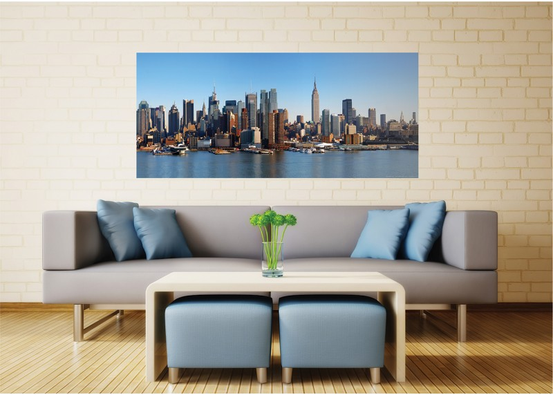 Zátoka s mrakodrapy, vliesová fototapeta do obývacího pokoje, ložnice, jídelny, kuchyně či chaty, AG Design, 202 x 90 cm, FTN H 2728