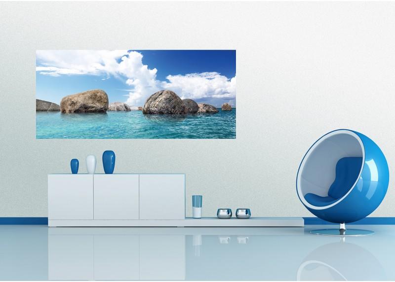 Balvany v oceánu, AG Design, fototapeta ekologická vliesová do obývacího pokoje, ložnice, jídelny, kuchyně, lepidlo součástí balení, 202x90