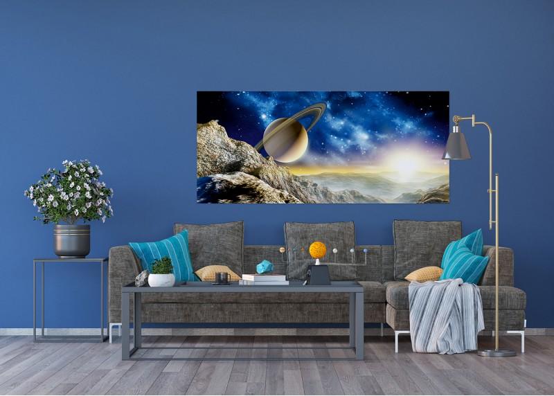 Vesmírný obraz planety Neptun, vliesová fototapeta do obývacího pokoje, ložnice, jídelny, kuchyně či chaty, AG Design, 202 x 90 cm, FTN H 2751