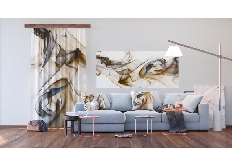 Béžový kouř, AG Design, fototapeta ekologická vliesová do obývacího pokoje, ložnice, jídelny, kuchyně, lepidlo součástí balení, 202x90