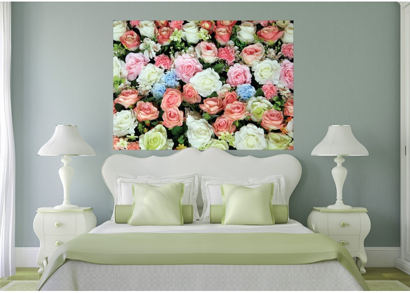 Koberec růží, vliesová fototapeta do obývacího pokoje, ložnice, jídelny, kuchyně či chaty, AG Design, 160 x 110 cm, FTN M 2653