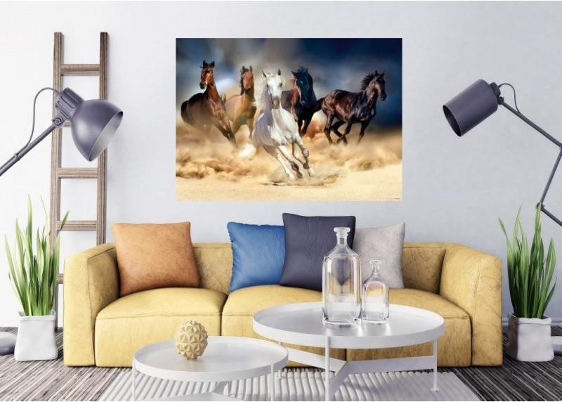 Koňské dostihy, AG Design, fototapeta ekologická vliesová do obývacího pokoje, ložnice, jídelny, kuchyně, lepidlo součástí balení, 160x110