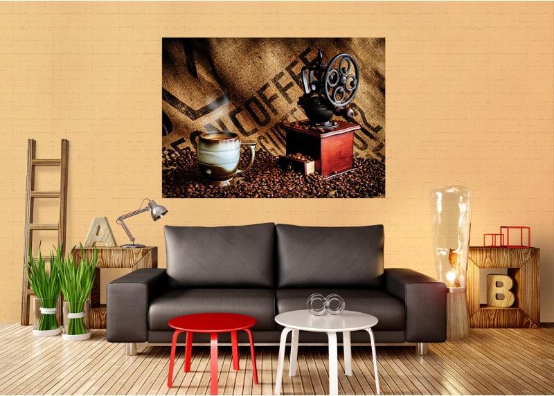Káva, AG Design, fototapeta ekologická vliesová do obývacího pokoje, ložnice, jídelny, kuchyně, lepidlo součástí balení, 160x110