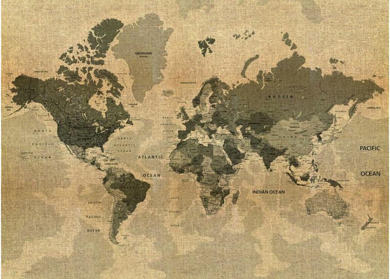 Mapa, AG Design, fototapeta ekologická vliesová do obývacího pokoje, ložnice, jídelny, kuchyně, lepidlo součástí balení, 160x110