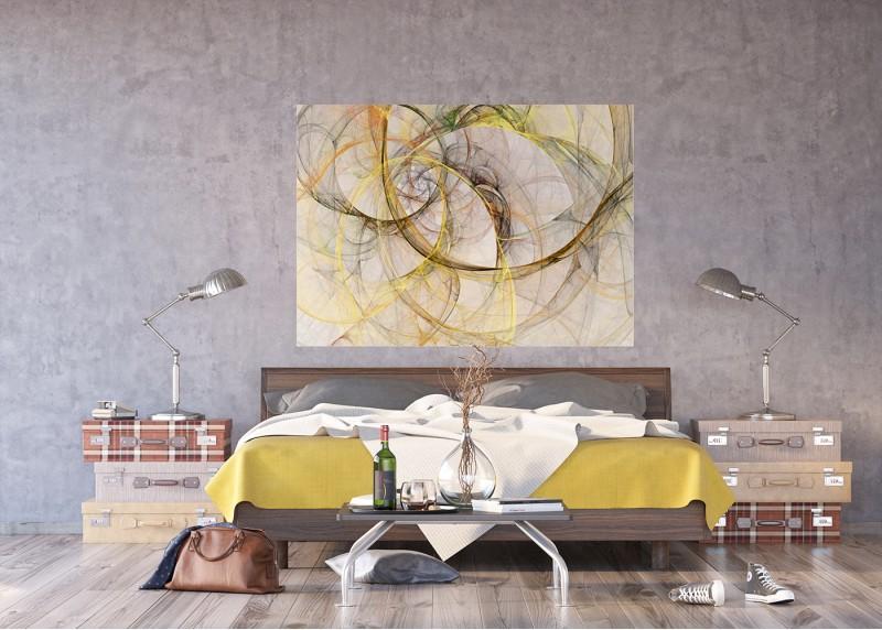 Abstrakce čáry, AG Design, fototapeta ekologická vliesová do obývacího pokoje, ložnice, jídelny, kuchyně, lepidlo součástí balení, 160x110