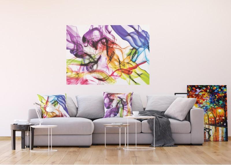 Různobarevný dým, vliesová fototapeta do obývacího pokoje, ložnice, jídelny, kuchyně či chaty, AG Design, 160 x 110 cm, FTN M 2696