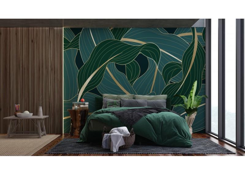 Exotické listy, AG Design, fototapeta ekologická vliesová do obývacího pokoje, ložnice, jídelny, kuchyně, lepidlo součástí balení, 360x270