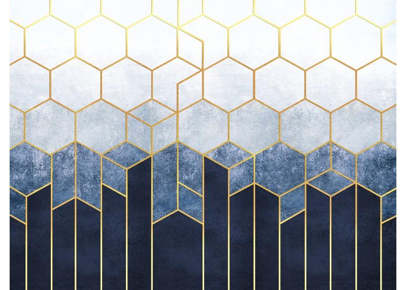 Geometrická abstrakce, AG Design, fototapeta ekologická vliesová do obývacího pokoje, ložnice, jídelny, kuchyně, lepidlo součástí balení, 360x270