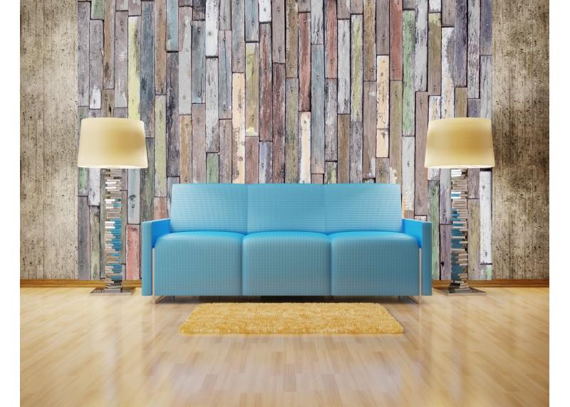 Dřevěný obklad, AG Design, fototapeta ekologická vliesová do obývacího pokoje, ložnice, jídelny, kuchyně, lepidlo součástí balení, 360x270