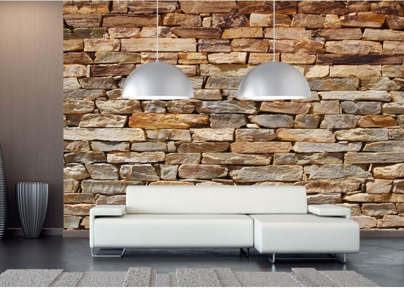 Kamenná zeď, AG Design, fototapeta ekologická vliesová do obývacího pokoje, ložnice, jídelny, kuchyně, lepidlo součástí balení, 360x270