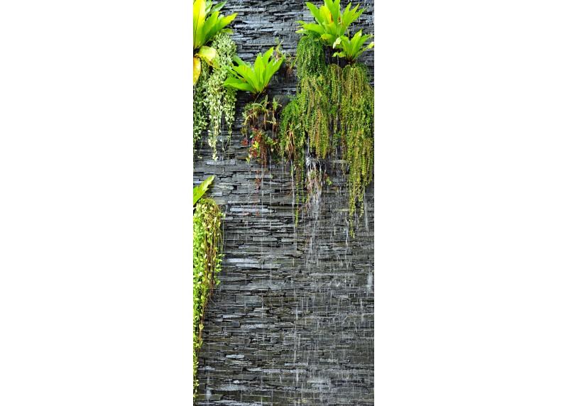 Rostliny na kůře, vliesová fototapeta do obývacího pokoje, ložnice, jídelny, kuchyně či chaty, AG Design, 90 x 202 cm, FTN V 2889