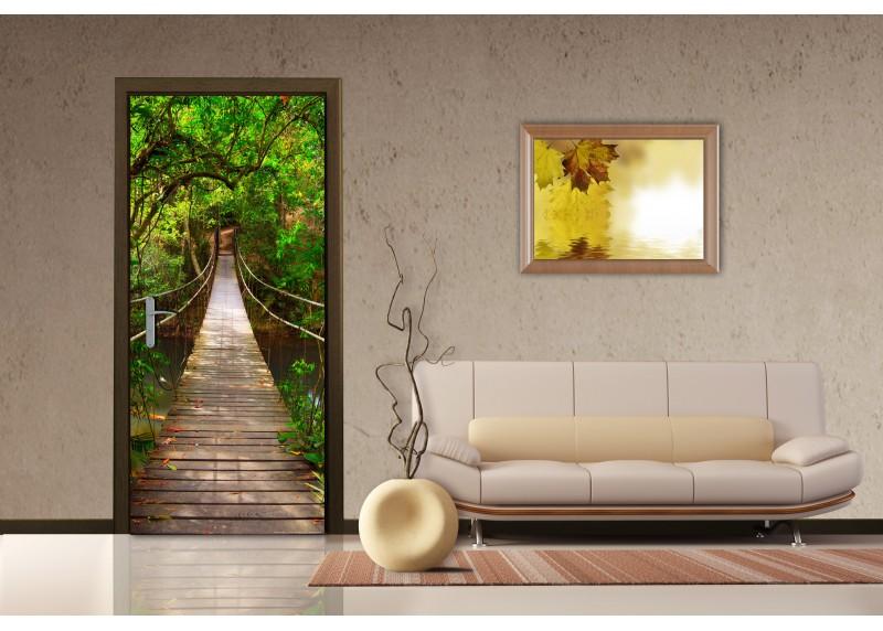 Visutý most, vliesová fototapeta do obývacího pokoje, ložnice, jídelny, kuchyně či chaty, AG Design, 90 x 202 cm, FTN V 2891