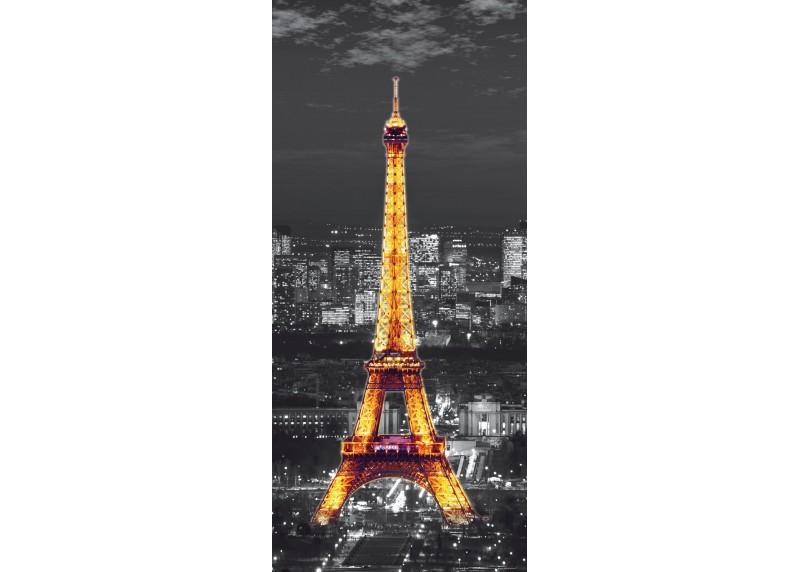 Zářící Eiffelova Věž, vliesová fototapeta do obývacího pokoje, ložnice, jídelny, kuchyně či chaty, AG Design, 90 x 202 cm, FTN V 2912