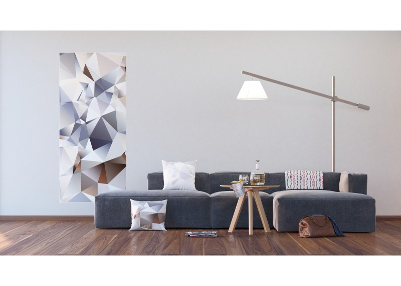 3D Trojúhelníky, AG Design, fototapeta ekologická vliesová do obývacího pokoje, ložnice, jídelny, kuchyně, lepidlo součástí balení, 90x202