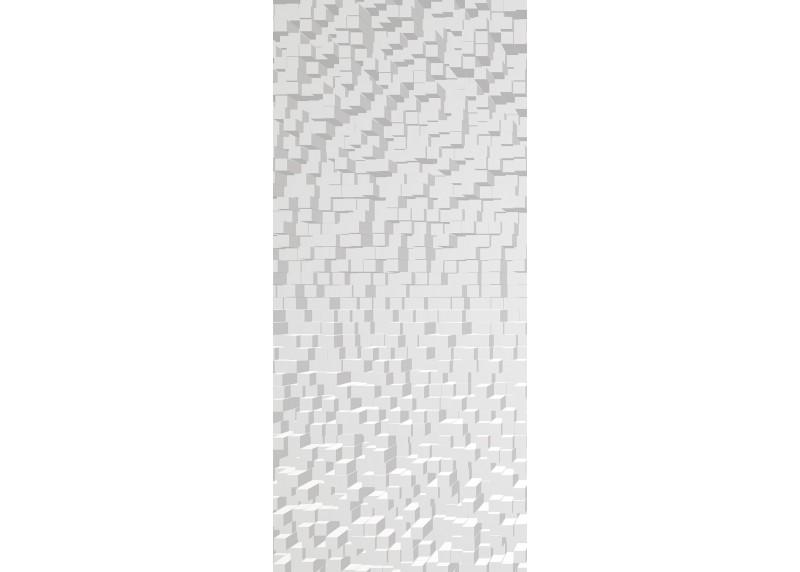 3D abstrakce bílé kostky, AG Design, fototapeta ekologická vliesová do obývacího pokoje, ložnice, jídelny, kuchyně, lepidlo součástí balení, 90x202