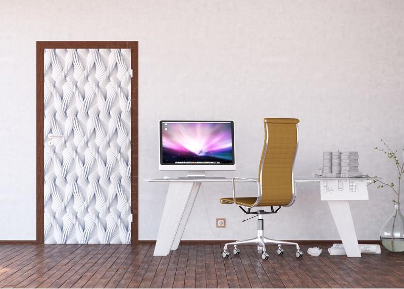 3D bílá pletená lana, AG Design, fototapeta ekologická vliesová do obývacího pokoje, ložnice, jídelny, kuchyně, lepidlo součástí balení, 90x202