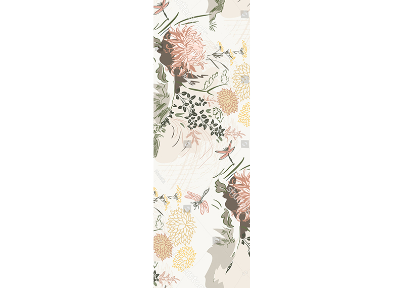 Květinová kompozice, AG Design, fototapeta ekologická vliesová do obývacího pokoje, ložnice, jídelny, kuchyně, lepidlo součástí balení, 90x270