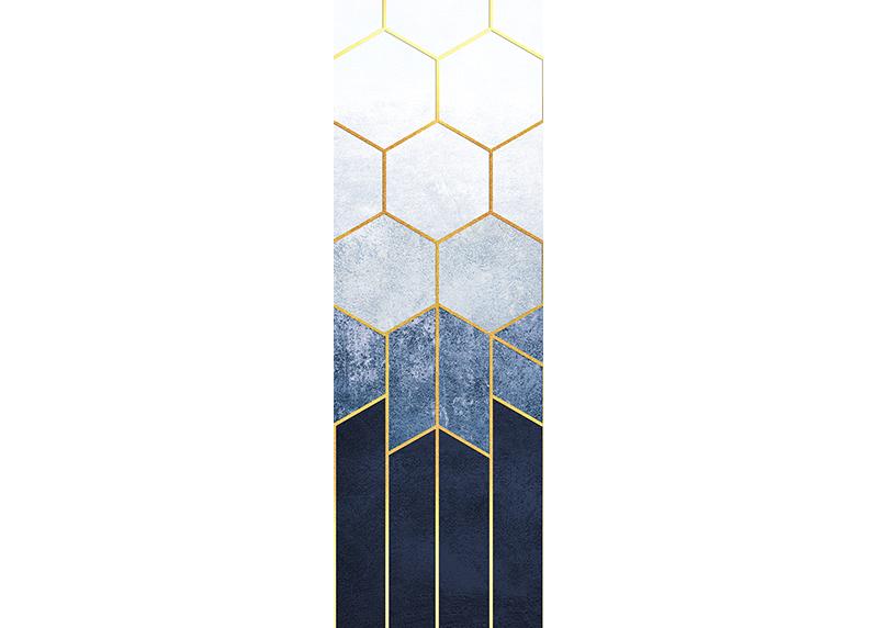 Geometrická abstrakce, AG Design, fototapeta ekologická vliesová do obývacího pokoje, ložnice, jídelny, kuchyně, lepidlo součástí balení, 90x270
