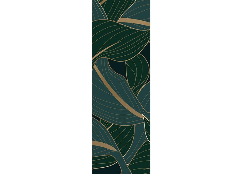 Exotické listy, AG Design, fototapeta ekologická vliesová do obývacího pokoje, ložnice, jídelny, kuchyně, lepidlo součástí balení, 90x270