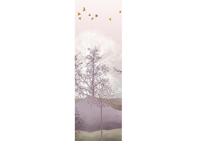 Barevný les, AG Design, fototapeta ekologická vliesová do obývacího pokoje, ložnice, jídelny, kuchyně, lepidlo součástí balení, 90x270