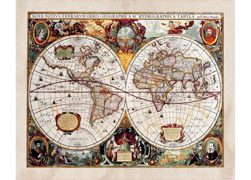 Historická mapa, AG Design, fototapeta ekologická vliesová do obývacího pokoje, ložnice, jídelny, kuchyně, lepidlo součástí balení, 360x270