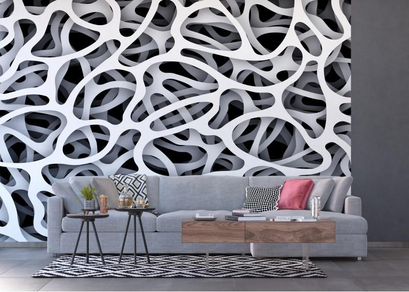 3D Abstrakce, AG Design, fototapeta ekologická vliesová do obývacího pokoje, ložnice, jídelny, kuchyně, lepidlo součástí balení, 360x270
