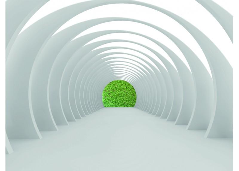 Bílý tunel, AG Design, fototapeta ekologická vliesová do obývacího pokoje, ložnice, jídelny, kuchyně, lepidlo součástí balení, 360x270