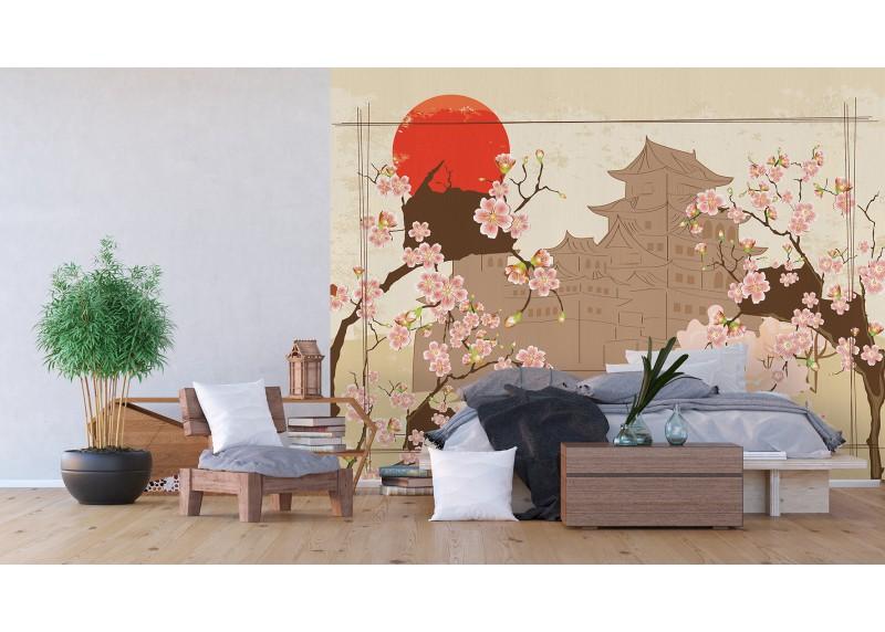 Japonské motivy, AG Design, fototapeta ekologická vliesová do obývacího pokoje, ložnice, jídelny, kuchyně, lepidlo součástí balení, 360x270