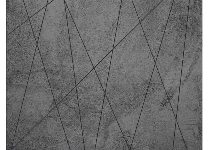 Linie na tmavém betonu, AG Design, fototapeta ekologická vliesová do obývacího pokoje, ložnice, jídelny, kuchyně, lepidlo součástí balení, 360x270