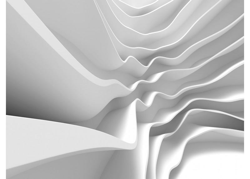 Futuristické vlny, AG Design, fototapeta ekologická vliesová do obývacího pokoje, ložnice, jídelny, kuchyně, lepidlo součástí balení, 360x270