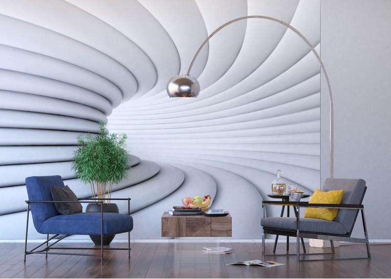 Abstrakce tunel, AG Design, fototapeta ekologická vliesová do obývacího pokoje, ložnice, jídelny, kuchyně, lepidlo součástí balení, 360x270
