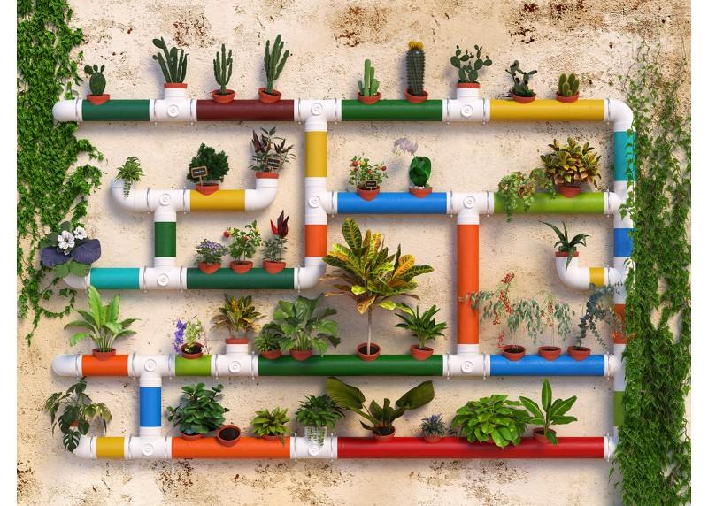 Květinová stěna, AG Design, fototapeta ekologická vliesová do obývacího pokoje, ložnice, jídelny, kuchyně, lepidlo součástí balení, 360x270
