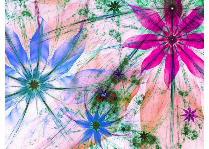 Květinové siluety, AG Design, fototapeta ekologická vliesová do obývacího pokoje, ložnice, jídelny, kuchyně, lepidlo součástí balení, 360x270