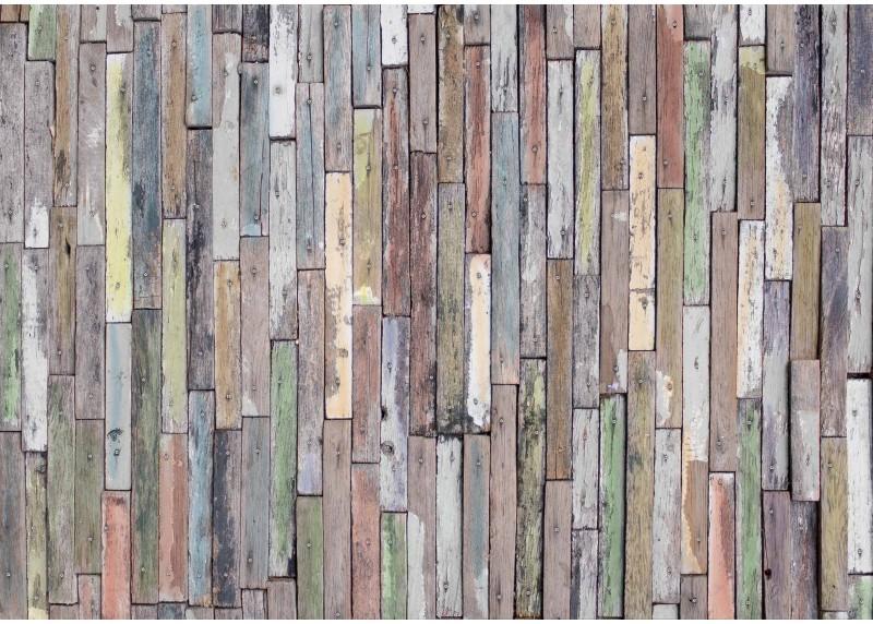 Dřevěný obklad, AG Design, fototapeta do obývacího pokoje, ložnice, jídelny, kuchyně, lepidlo součástí balení, 360x254