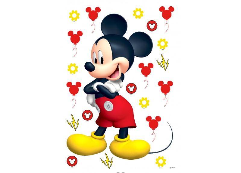 Samolepka na zeď dětská,  AG Design, DK 1725, Disney, Mickey Mouse, 42,5x65 cm