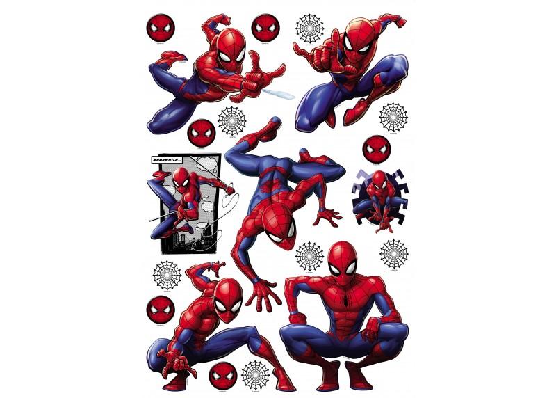 Spider-man, Marvel, dekorační nálepky na stěny, nábytek a interiérové předměty v dětském pokoji, AG Design, 42,5 x 65 cm, DK 1741