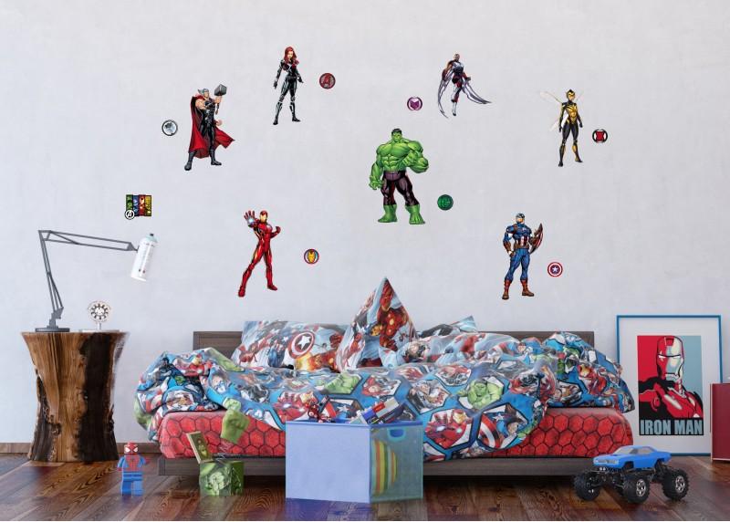 Avengers, Marvel, dekorační nálepky na stěny, nábytek a interiérové předměty v dětském pokoji, AG Design, 65 x 85 cm, DK 2326