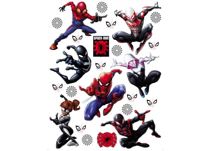 Spider-man, Marvel, dekorační nálepky na stěny, nábytek a interiérové předměty v dětském pokoji, AG Design, 65 x 85 cm, DK 2327