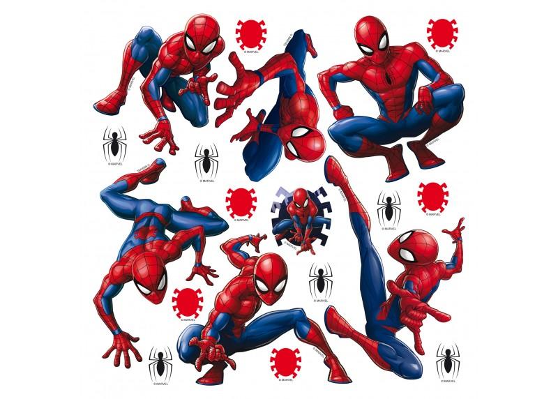 Spider-man, Marvel, dekorační nálepky na stěny, nábytek a interiérové předměty v dětském pokoji, AG Design, 30 x 30 cm, DKS 1090