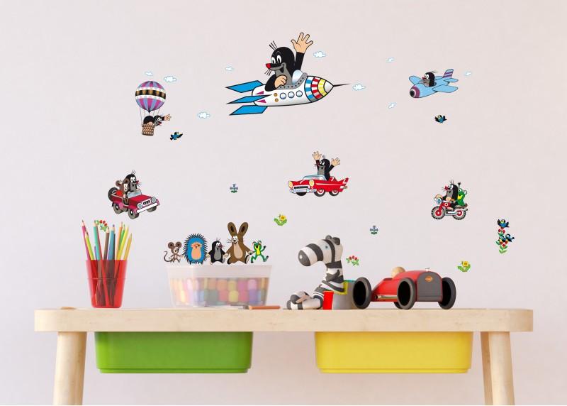 Little Mole, dekorační nálepky na stěny, nábytek a interiérové předměty v dětském pokoji, AG Design, 30 x 30 cm, DKS 3801