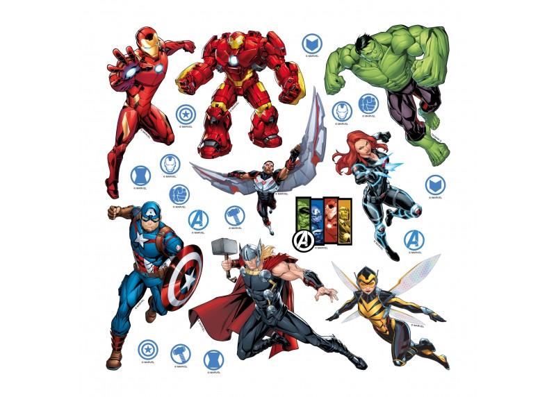Avengers, Marvel, dekorační nálepky na stěny, nábytek a interiérové předměty v dětském pokoji, AG Design, 30 x 30 cm, DKS 3817