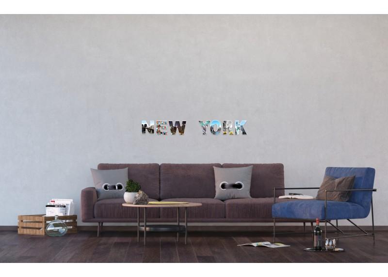 Samolepka na zeď,  AG Design, SM 3431, New York, 42,5x65 cm