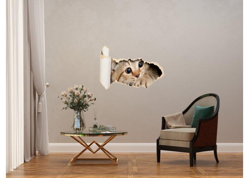 Samolepka na zeď,  AG Design, SM 3442, Kočka, 42,5x65 cm