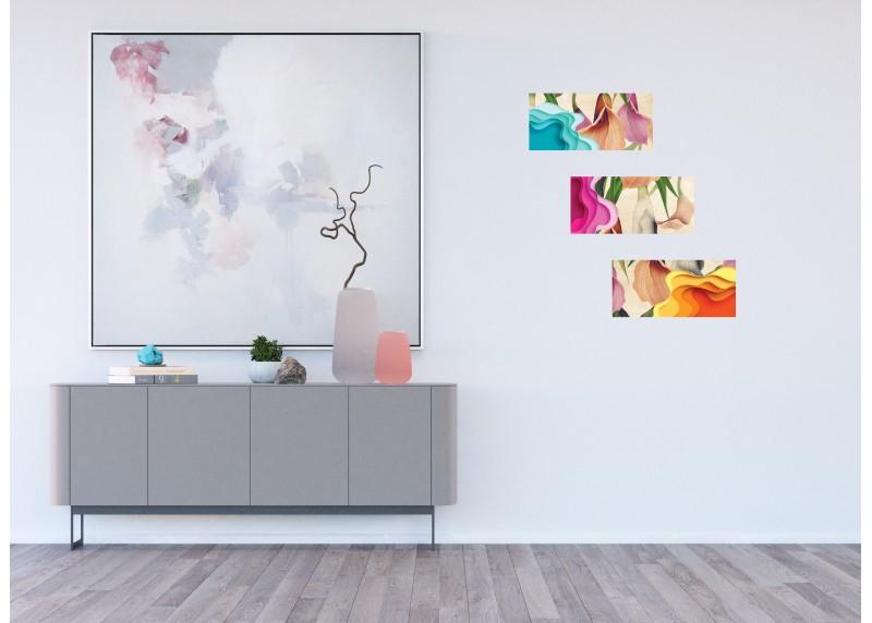 Samolepka na zeď,  AG Design, SM 3446, Abstrakce a kaly, 42,5x65 cm
