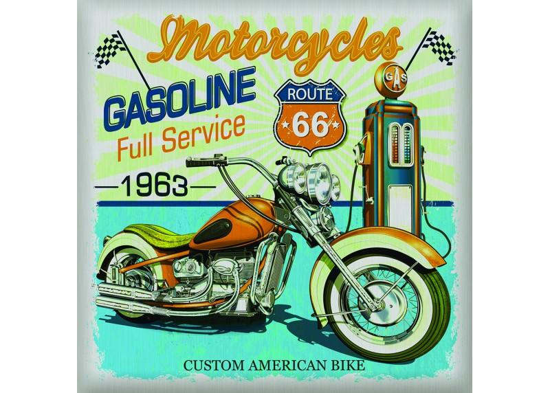 Samolepka na zeď,  AG Design, SS 3851, USA Motorka, 30x30 cm